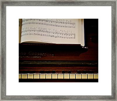 The Old Piano Framed Print by Odd Jeppesen