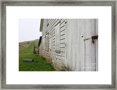 The Old Pierce Point Ranch At Foggy Point Reyes California 5d28130 Framed Print by Wingsdomain Art and Photography