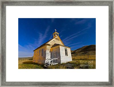 The Old Pioneer Church In Dorothy Framed Print by Alan Dyer