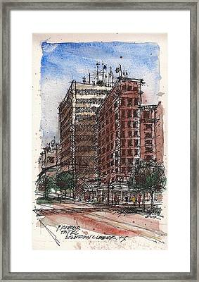 The Old Pioneer Hotel Framed Print