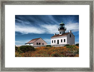 The Old Point Loma Lighthouse By Diana Sainz Framed Print