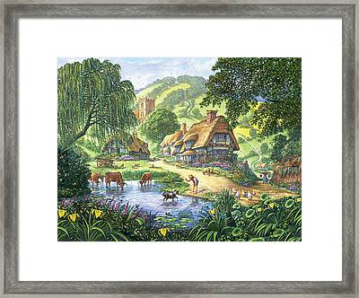The Old Pond Framed Print by Steve Crisp
