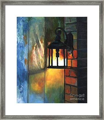 The Old Porch Light Framed Print