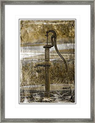 The Old Pump Framed Print