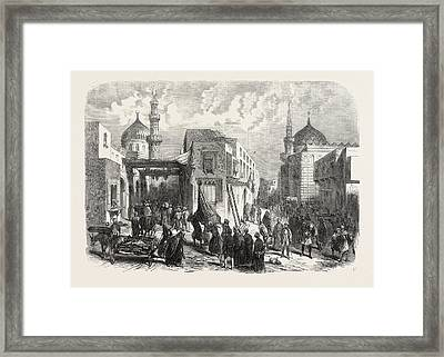 The Old Quarter Of Cairo During The Prevalence Of Cholera Framed Print by Egyptian School