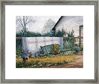 The Old Quilt Framed Print