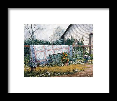 Wheel Barrows Framed Prints