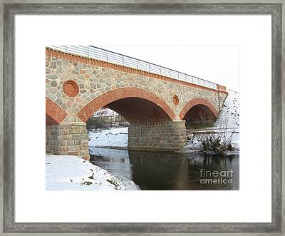 The Old Railway Bridge In Silute. Lithuania. Winter Framed Print