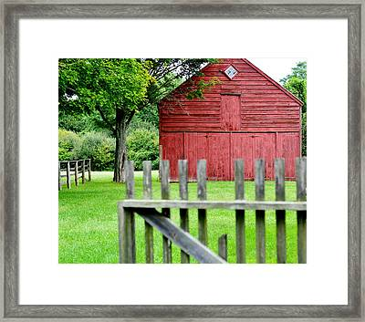 The Old Red Barn Framed Print by Laura Fasulo