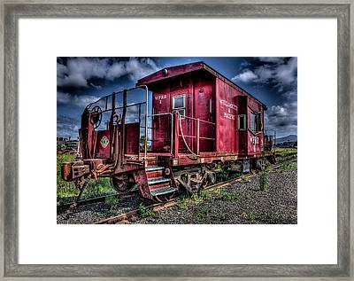 Framed Print featuring the photograph Old Red Caboose by Thom Zehrfeld