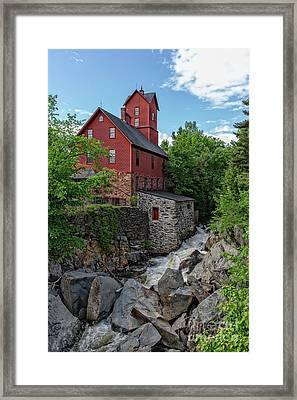 The Old Red Mill Jericho Vermont Framed Print