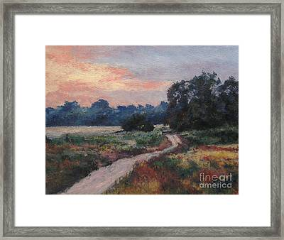 The Old Road At Sunset Framed Print by Gregory Arnett
