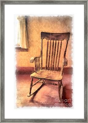 The Old Rocker Framed Print