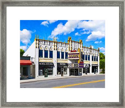 The Old Roxy - Atlanta Georgia Landmarks Framed Print by Mark E Tisdale