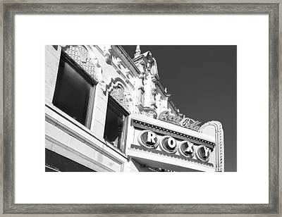 Framed Print featuring the photograph The Old Roxy Marquee - Atlanta Music Nostalgia by Mark E Tisdale