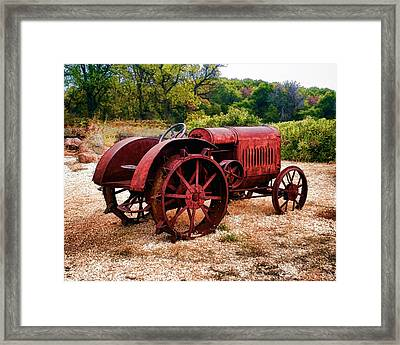 The Old Rust Bucket Framed Print