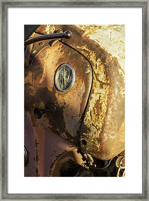 The Old Rustic Tractor-one Framed Print by David Allen Pierson