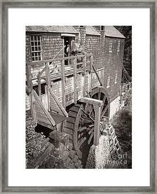 The Old Saw Mill Framed Print by Edward Fielding