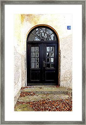 The Old School Entrance Framed Print by The Creative Minds Art and Photography