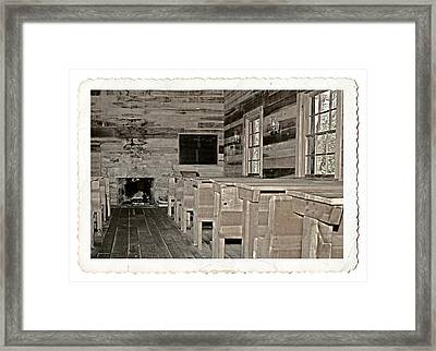 The Old Schoolhouse Framed Print by Susan Leggett