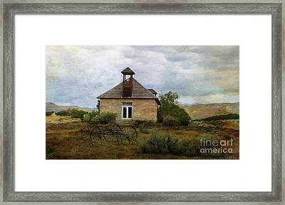 The Old Shell Schoolhouse Framed Print by Janice Rae Pariza