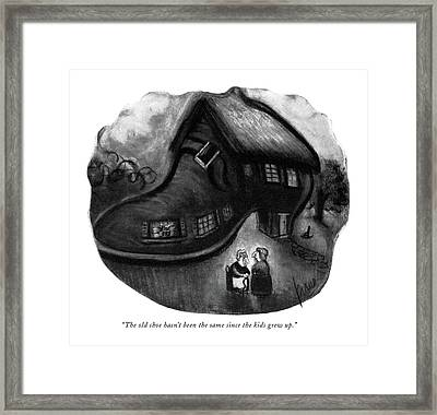 The Old Shoe Hasn't Been The Same Since The Kids Framed Print