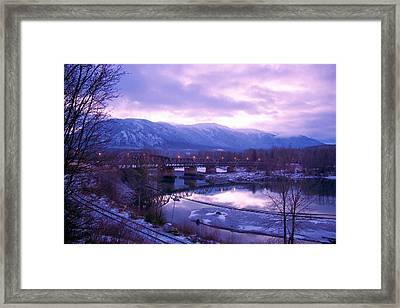 Framed Print featuring the photograph The Old Skeena Bridge by Sylvia Hart
