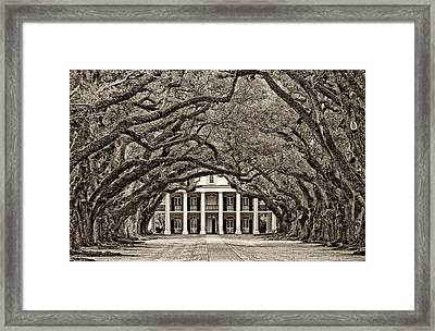 The Old South Sepia Framed Print