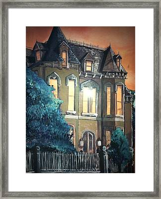 The Old Stegmeier Mansion Framed Print by Alexandria Weaselwise Busen