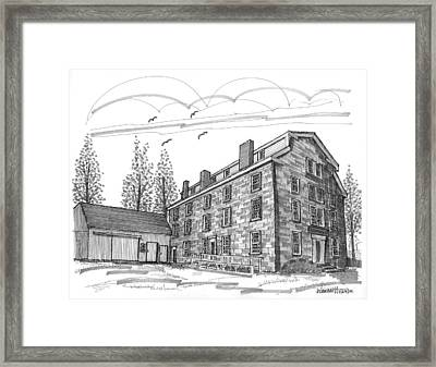 The Old Stone House Framed Print by Richard Wambach