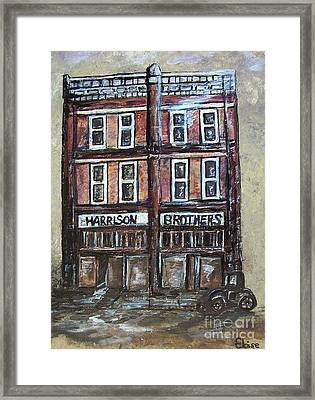 Framed Print featuring the painting The Old Store by Eloise Schneider