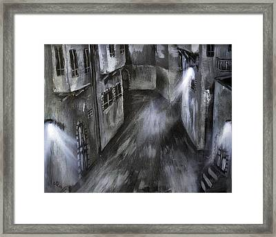 The Old Street Framed Print by Jamil Alkhoury