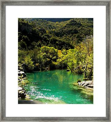 The Old Swimmin' Hole Framed Print by Lin Haring