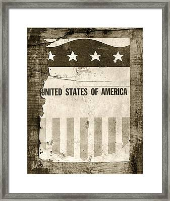 The Old Tag Bw Framed Print by Martin Bergsma