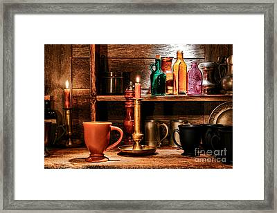 The Old Tavern Framed Print by Olivier Le Queinec