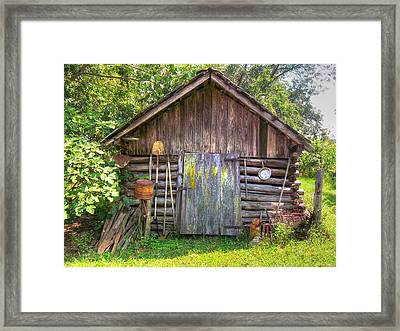The Old Tool Shed II Framed Print by Lanita Williams
