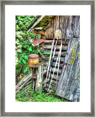 Framed Print featuring the photograph The Old Tool Shed by Lanita Williams