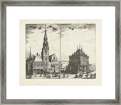 The Old Town Hall In Amsterdam And The Waag The Netherlands Framed Print by Quint Lox