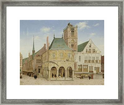 The Old Town Hall Of Amsterdam, The Netherlands Framed Print by Litz Collection