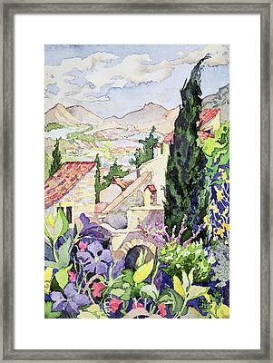 The Old Town Vaison Framed Print by Julia Gibson
