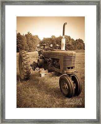 The Old Tractor Framed Print by Edward Fielding