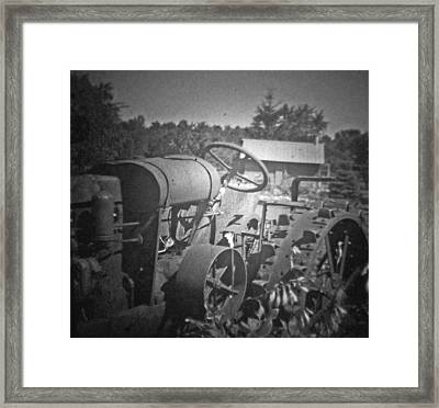 The Old Tractor Framed Print by Michael Allen