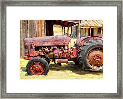 The Old Tractor Framed Print by Michael Pickett
