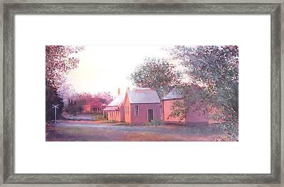 The Old Train Station Framed Print