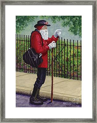 The Old Traveler Framed Print by Val Miller