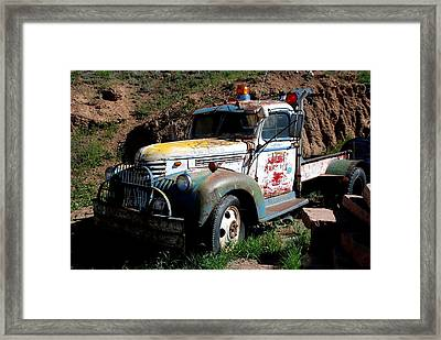 Framed Print featuring the photograph The Old Truck by Dany Lison