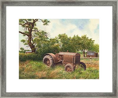 The Old Warrior Framed Print by Anthony Forster