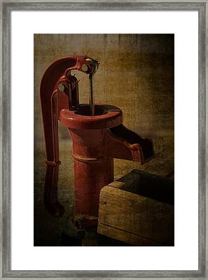 The Old Water Pump Framed Print by Lena Wilhite
