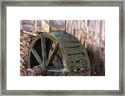 The Old Waterwheel Framed Print