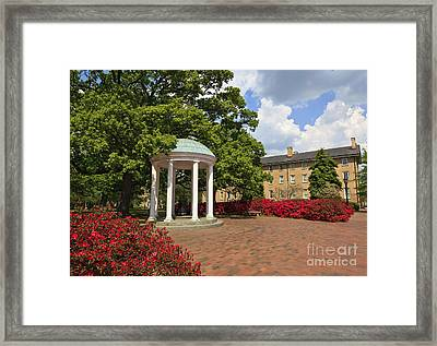 The Old Well At Chapel Hill Campus Framed Print
